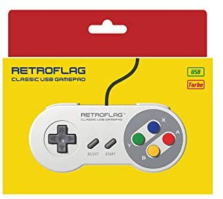 Retroflag Classic Wired USB Gaming Controller Supports XINPUT, DINPUT, Turbo Function for Raspberry Pi, Windows, Nintendo Switch - Game Gear
