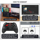 Nintendo Switch Pro Controller, Wireless Controller for Nintendo Switch with Gyro Axis Function & Dual Shock - Game Gear