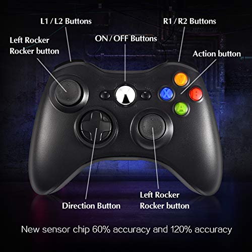 Wireless Controller for Xbox 360, Xbox 360 Slim & PC - Game Gear
