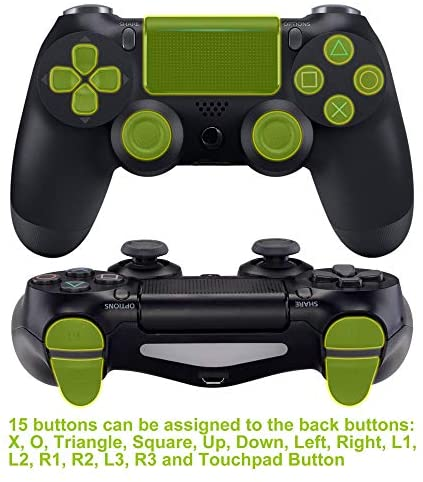 Programable Remap Kit for PS4 Controller - PCB Board, Redesigned Back Shell & 4 Back Buttons - Make your own Scuf like Elite Controller, Compatible with JDM-040/050/055 - Game Gear