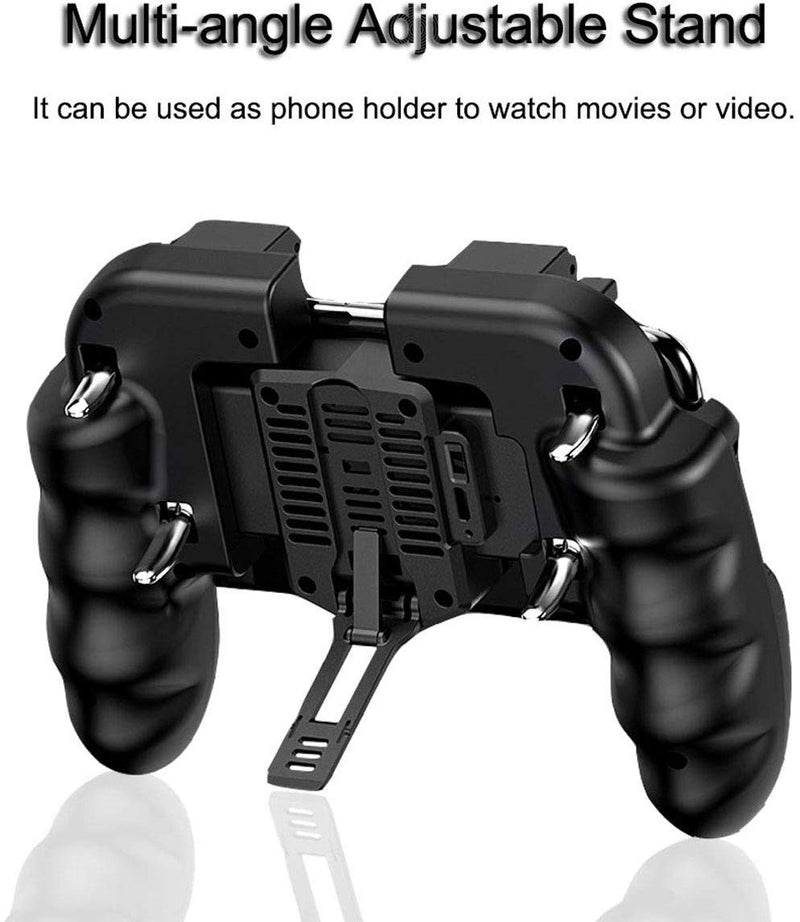 4-Trigger Mobile Game Controller w/ Cooling Fan, Gaming Grip for iOS & Android - Game Gear