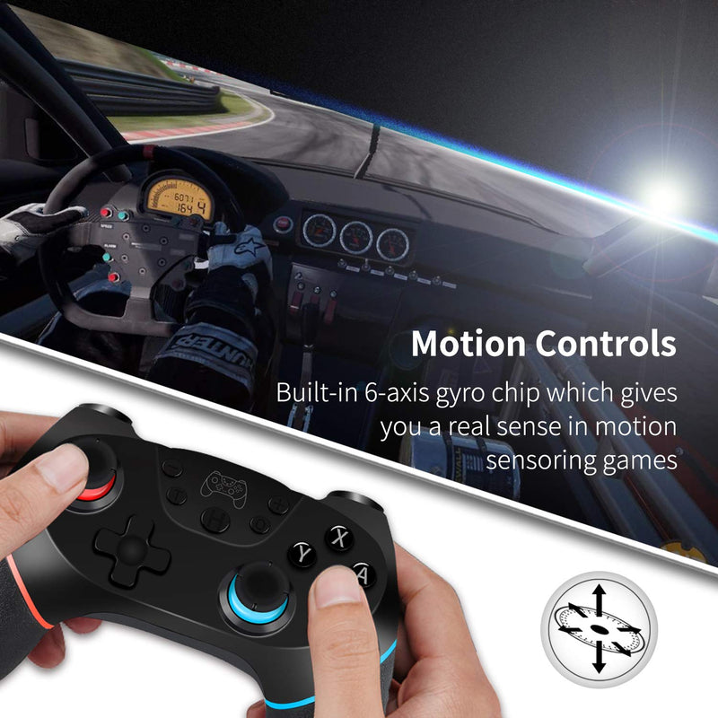 Nintendo Switch Controller Wireless Pro Controller for Nintendo Switch, PC and Android - Bluetooth Connectivity with Nonslip Grip - Game Gear