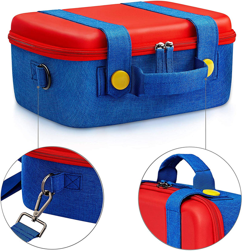 Nintendo Switch Deluxe Carrying Storage Case, Protective Hard Shell Carrying Bag - Mario Theme & Color - Game Gear