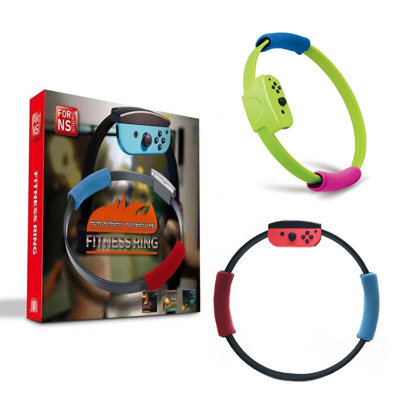 Ring-Con Leg Strap and Sport Band Grips for Nintendo Switch Joy-Con, Adjustable and Elastic - Ring Fit Adventure Game - Game Gear