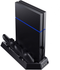 PS4 PlayStation 4 Stand with Cooling Fans, Controllers Charging Station with Dual Charging Ports and USB Hub for Sony Dualshock 4 Controllers - Game Gear