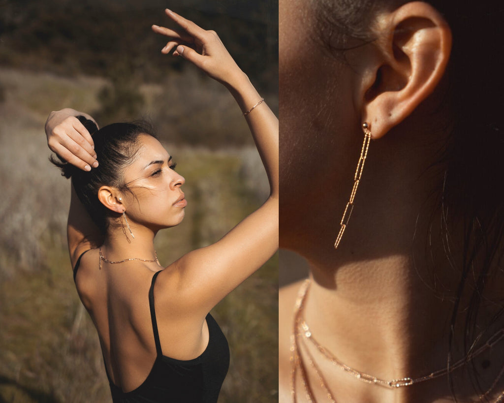 Everyday luxe link diamondcut link chain jewelry rosegold