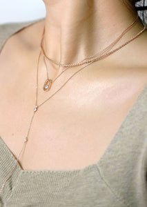 everyday minimal dainty jewelry dalhaejewelry timeless style capsule wardrobe staple minimalist fashion staple fine sterling silver gold vermeil diamond long lariat necklace romantic rosegold diamond necklace layers