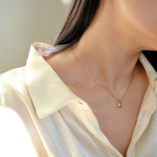 Load image into Gallery viewer, everyday minimal dainty jewelry dalhaejewelry timeless style capsule wardrobe staple minimalist fashion staple fine sterling silver gold vermeil diamond necklace romantic rosegold everyday diamond necklace link necklace delicate cz necklace