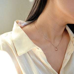 everyday minimal dainty jewelry dalhaejewelry timeless style capsule wardrobe staple minimalist fashion staple fine sterling silver gold vermeil diamond necklace romantic rosegold everyday diamond necklace link necklace delicate cz necklace