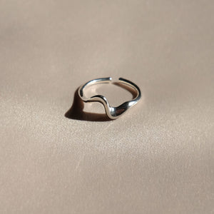 everyday minimal dainty jewelry dalhaejewelry timeless style capsule wardrobe staple minimalist fashion staple make a ripple wave ring stackable ring dainty ring adjustable ring sterling silver gold vermeil