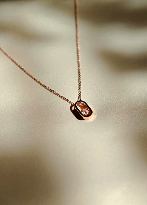 everyday minimal dainty jewelry dalhaejewelry timeless style capsule wardrobe staple minimalist fashion staple fine sterling silver gold vermeil romantic rosegold everyday diamond necklace link delicate cz necklace rose gold
