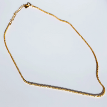 Load image into Gallery viewer, everyday minimal dainty jewelry the one choker chain necklace sterling silver dalhaejewelry timeless style capsule wardrobe staple minimalist fashion gold vermeil