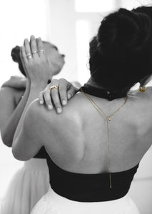 teardrop necklace dalhae jewelry minimal everyday dainty necklace gold silver ballet editorial
