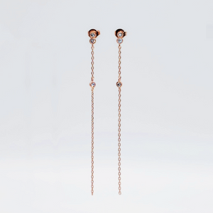 everyday minimal dainty jewelry dalhaejewelry timeless style capsule wardrobe staple minimalist fashion staple fine sterling silver gold vermeil diamond earrings romantic delicate rosegold diamond drop earrings