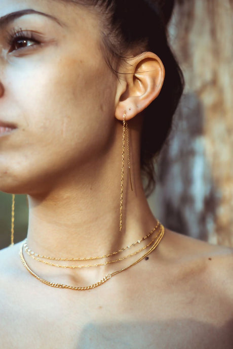 everyday minimal dainty jewelry dalhaejewelry timeless style capsule wardrobe staple minimalist fashion staple fine chain choker necklace sterling silver gold vermeil
