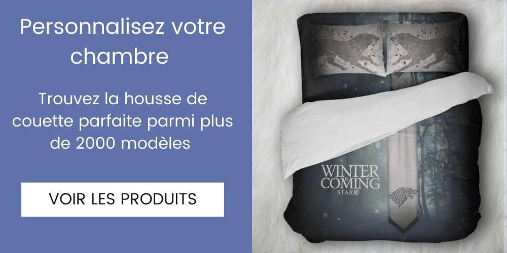 housse de couette games of thrones winter is coming
