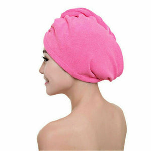 Swimming Towel Rapid Fast Drying Hair Hat Absorbent Towel Cap Turban Wrap Soft Shower Hat