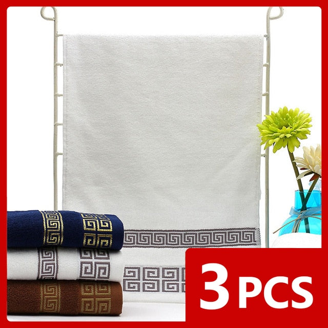 High Quality Luxury Soft Embroidered Towels Bathroom Strongly Water Absorbent Adult Beach Towel 100% Cotton 35x75cm