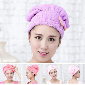 New 5 Color Colorful Shower Cap Wrapped Towels 2020