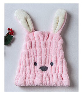 Cute Long Ear Rabbit Dry Hair Cap Shower Cap 2020