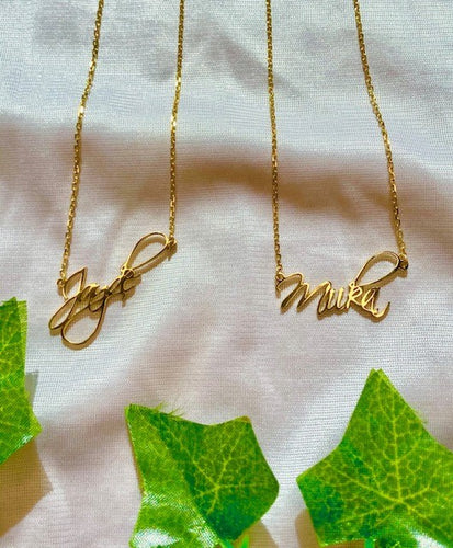 Luxury Autograph Name Necklace