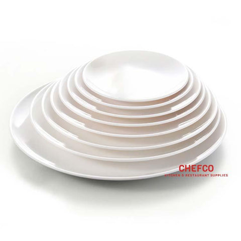 "White Melamine Dinner Plate (7""-11"" Diameter)"