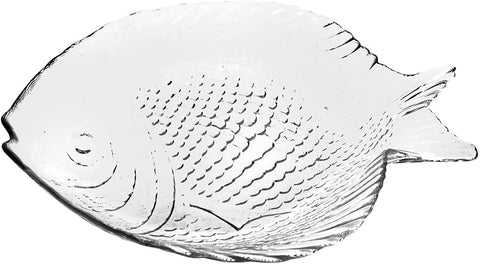Marine Fish Glass Serving Plate