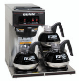 Bunn VP17-3L Stainless Steel 12 Cup Pourover Coffee Brewer with 3 Lower Warmers