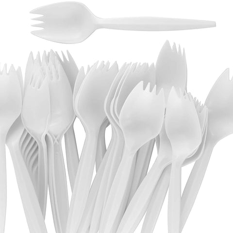 Medium Weighted Plastic Spork (1000 Pieces)
