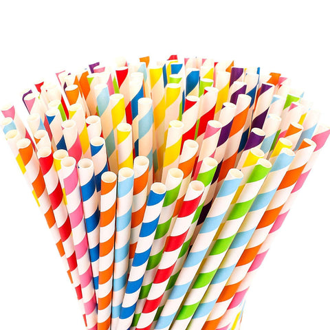 "8"" Unwrapped Paper Straws (250 pieces)"