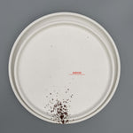"White Melamine Spotted Design Plate (7.9""-12.2"")"