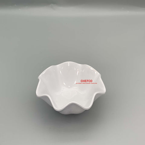 "Flower Shaped Melamine Bowl (4.5""-6"" Dia.)"