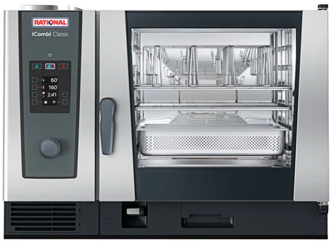 Rational iCombi Classic Single 6-Half Size Combi Oven (Natural Gas) with ClimaPlus Technology - 120V