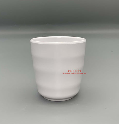White Melamine Waves Tea Cup
