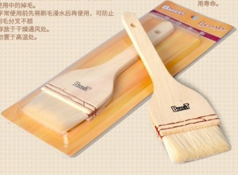 Flat Pastry/Basting Brush with Wooden Handle