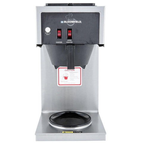 Bloomfield 8543-D2 Koffee King Two Warmer In- Line Pour-Over, Lo-Profile Coffee Brewer