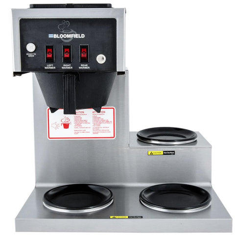 Bloomfield 8571-D3 Koffee King Three Warmer Stepped Right, Pour- Over Lo-Profile Coffee Brewer