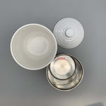"Melamine and Steel Insulated Soup Bowl Set with Lid (4.5"" Dia.)"