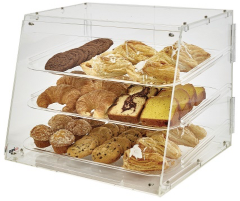 "Winco 3-level Countertop Display Case (12"" x 18"")"