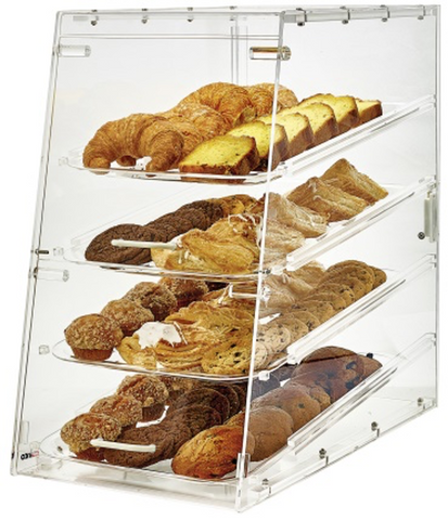 "Winco 4-level Countertop Display Case (12"" x 18"")"