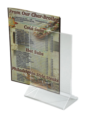 "Acrylic Menu Holder 4"" x 6"""