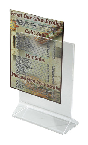 "Acrylic Menu Holder 5"" x 7"""
