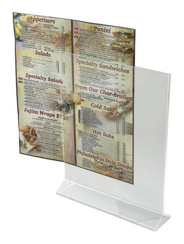 "Acrylic Menu Holder 8"" x 11"""