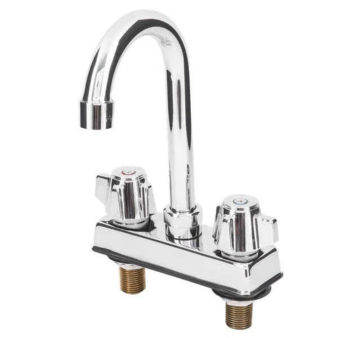 "Deck-mounted Faucet with 4"" Centers and 3.5"" Gooseneck Swing Spout"