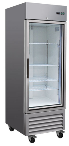 Sub-equip 23ft³ Upright Reach-in Glass Door Freezer
