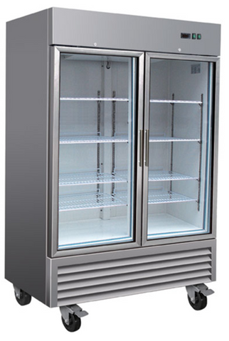 Sub-equip 49ft³ Upright Reach-in Glass Door Freezer