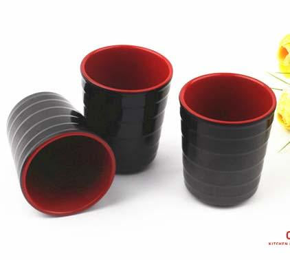 Red and Black Melamine Tea Cup