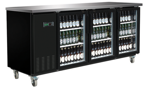 Large Glass Door Back Bar Cooler
