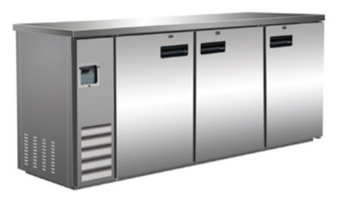Large Stainless Steel Swing Door Back Bar Bottle Cooler