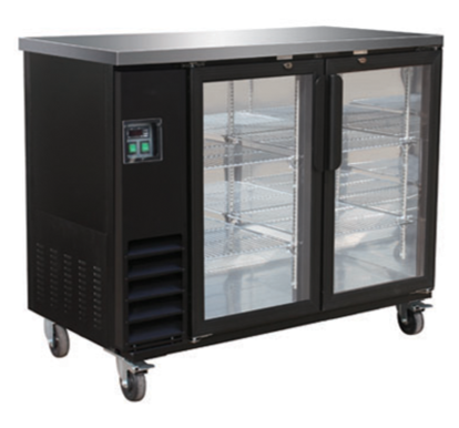 Small Swing Door Black Bar Cooler